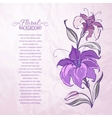 abstract background with blooming lilies vector image vector image