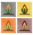 assembly flat shading style icon fire in the vector image vector image