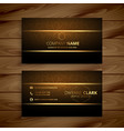 awesome golden business card design vector image vector image