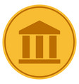 bank building gold coin vector image