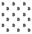 bit coin pattern black white vector image