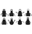 black kitchens aprons waiter apron restaurant vector image