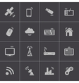 black wireless icons set vector image