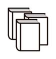 book line design icon image vector image