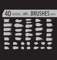 brushes dry ink paint grunge hand drawn vector image vector image