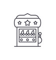 casino machine line icon concept casino machine vector image