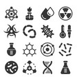 chemistry science details glyph icon set vector image