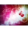 Christmas with red glass ball vector image vector image