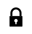 closed lock icon vector image vector image