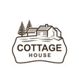 cottage logo vector image vector image