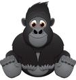 cute baby gorilla vector image vector image