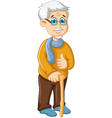 cute old man cartoon thumb up vector image vector image