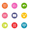 digital document icons set flat style vector image