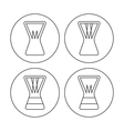 Djembe icons vector image