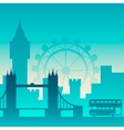 Famous city scape in color vector image vector image