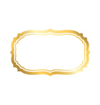 Gold frame simple white golden vector image vector image