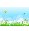 grass back cloud vector image