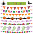 halloween party bunting decoration isolated vector image