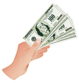 Hand with Dollar Banknotes vector image vector image