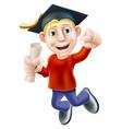 happy graduate vector image vector image