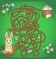 is a fun maze game for kids vector image vector image