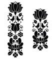 Kalocsai black embroideryHungarian floral pattern vector image vector image