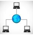 Laptop network vector image
