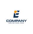 letter e and arrow logo design abstract logo vector image vector image