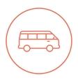 Minibus line icon vector image vector image