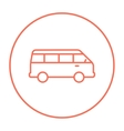 Minibus line icon vector image