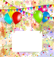 Modern birthday greeting card with balloons and vector image vector image