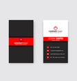 modern vertical professional business card vector image vector image