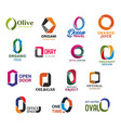 o letter font design corporate business identity vector image vector image