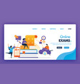 people take online exam concept design vector image vector image
