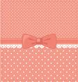 pink-polka-dots vector image vector image