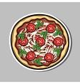 PizzaSticker3 vector image vector image