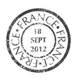postal stamp from france vector image vector image