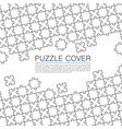 puzzle cover art color background vector image vector image