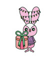 rabbit with lights tangled in ears merry vector image vector image