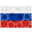 Russia soccer balls vector image vector image