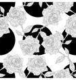 seamless polka dot and roses vector image vector image