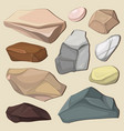 set of color stones vector image