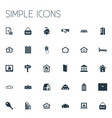Set of simple property icons elements promotion