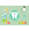 set of teeth best friend vector image vector image