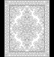 template for carpet vector image vector image