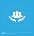 user in hand icon vector image