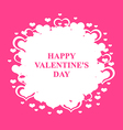 valentine round vector image vector image