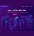 venture business company building service landing vector image vector image
