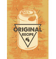 vintage beer poster vector image vector image