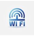 WiFi blue icon vector image vector image